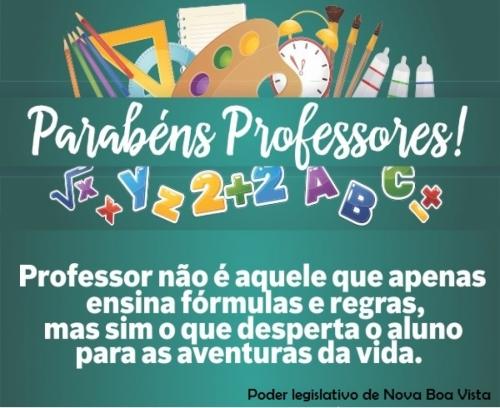 Dia 15 de outubro - Dia do Professor